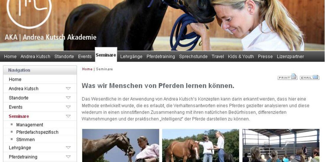 CAV Andrea Kutsch Akademie Screenshot