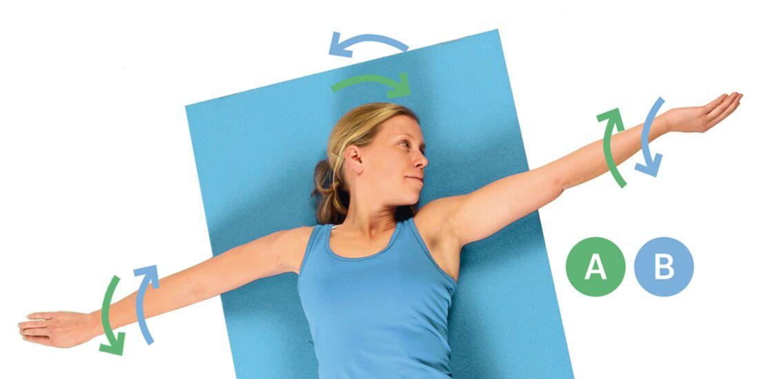 CAV Kastner Motion Serie 02 - Übung 5 Arme rollen gegengleich mit Kopf