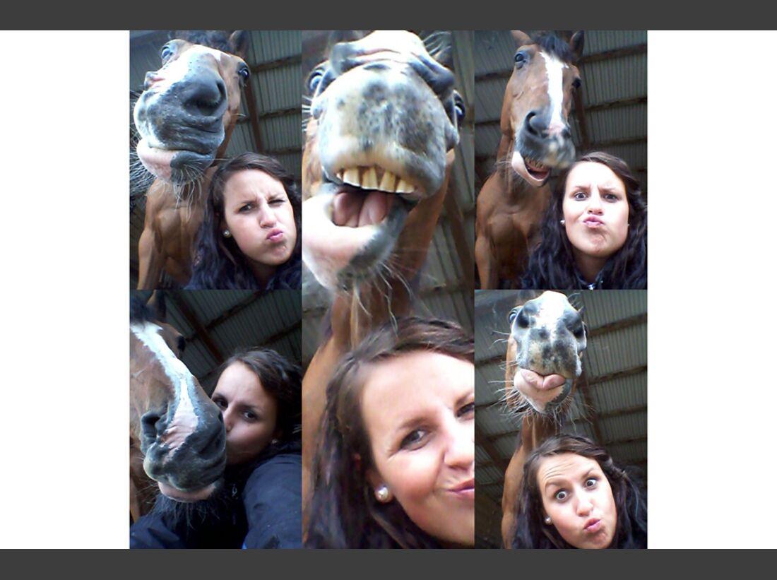 CAV Leserfotos Selfie Pferde Jennifer Migl
